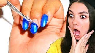 Она отрывает себе ногти Щипцами! Попробуй не сказать «ВАУ» челлендж
