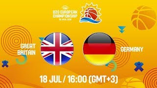 LIVE - Great Britain v Germany - FIBA U20 European Championship 2019