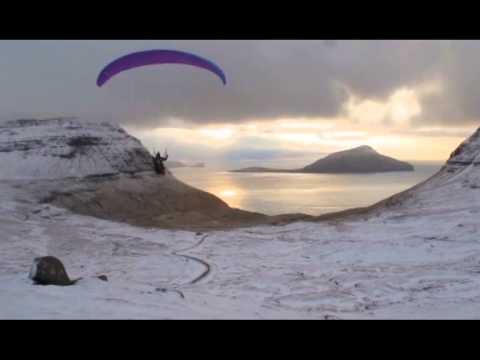 Paragliding on Christmas Day in the Faroe Islands
