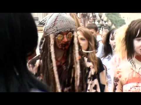 Зомби-моб в Москве флешмоб