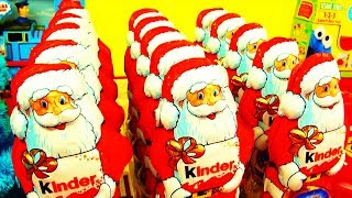 15 Christmas Kinder Surprise Santa Claus Army Surprise Toys Xmas Eggs Mega Unboxing Huevos thumbnail