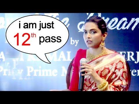 I Am Just 12th Pass - Deepika Padukone's INSPIRING Interview