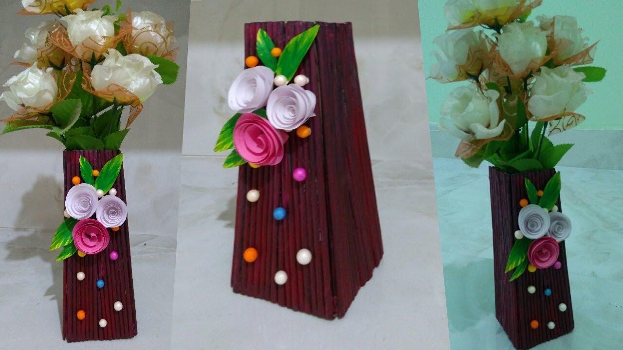 Diy Ll Very Creative Newspaper Flower Pot Design 2 Youtube