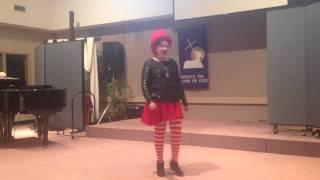 Daphne singing I will prevail from Wonderland. St. Albert R