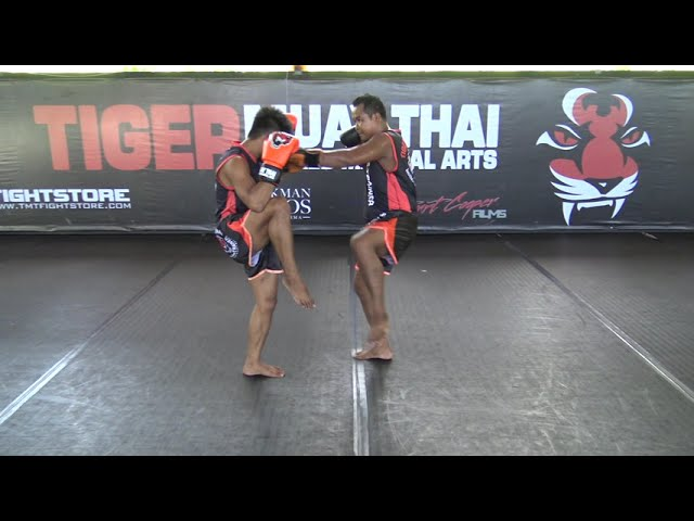 Muay Thai Technique: Fake Rear Kick - Straight Punch
