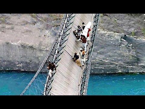 Besucht diese Orte niemals! Die 9 furchterregendsten und gefährlichsten Brücken der Welt