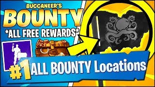 VISIT A PIRATE CAMP IN DIFFERENT MATCHES & *ALL* REWARDS (Fortnite BUCCANEER'S BOUNTY CHALLENGES)