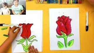 Как нарисовать РОЗУ цветок