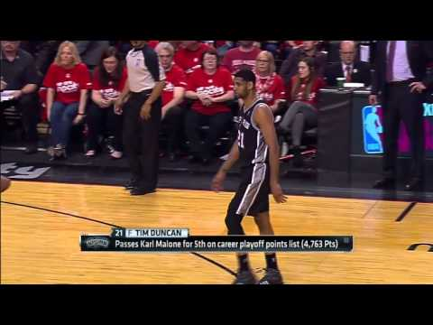 San Antonio Spurs vs Portland Trail Blazers - Game 3 Highlights - NBA Playoffs 2014