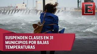 Fuertes vientos en Veracruz por frente frío número 10