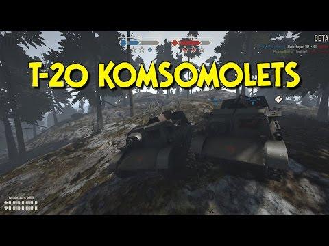 T-20 Komsomolets► Heroes & Generals - Mowing down infanty