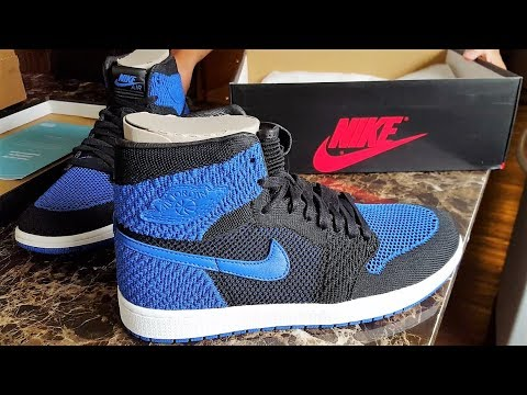 88f874ae87d3 NIKE AIR JORDAN 1 RETRO ROYAL FLYKNIT DIDNT SELLOUT  + REVIEW ...