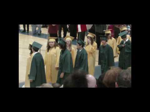 Ann A Mullen Middle School 2009 Graduation Procession Part 1