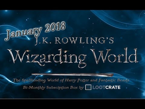 January 2018 : J.K. Rowling's Wizarding World Loot Crate Bi-Monthly Subscription Box : Harry Potter