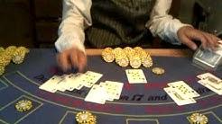 Black Jack Tisch, Mobiles Casino,  Kartenausgabe,Casino, Croupier , zocken, Spielbank