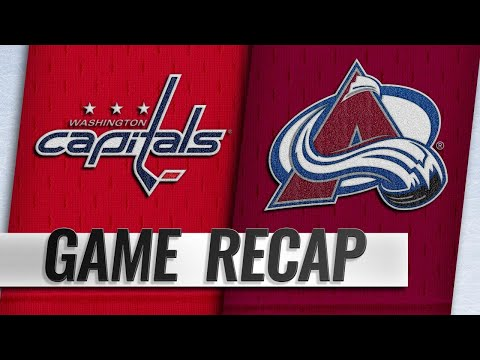 Backstrom lifts Caps past Avs in overtime, 3-2