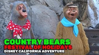 Country Bears meet-and-greet during Festival of Holidays 2016 at Disney California Adventure