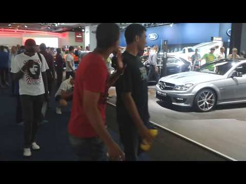 Mercedes Benz stand at this years Johannesburg International Motor show