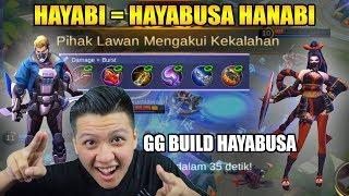 HANABI BUILD HAYABUSA MUSUH LANGSUNG SURRENDER  - Mobile Legend Bang Bang