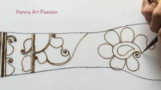 embellishment 13 : learn paisleys in henna mehendi design