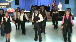 Giddy On Up  Line Dance Demo  -  Country Club Dancers