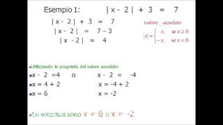 Equazioni di primo grado con valore assoluto