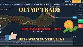 BEST ONE MINUTE STRATEGY USING BOLLINGER + RSI | Olymp Trade | PI TRADER