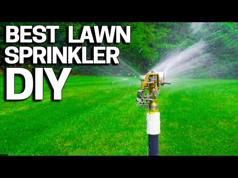 Best Lawn Sprinkler DIY - Without an Irrigation System- Build your own EASY