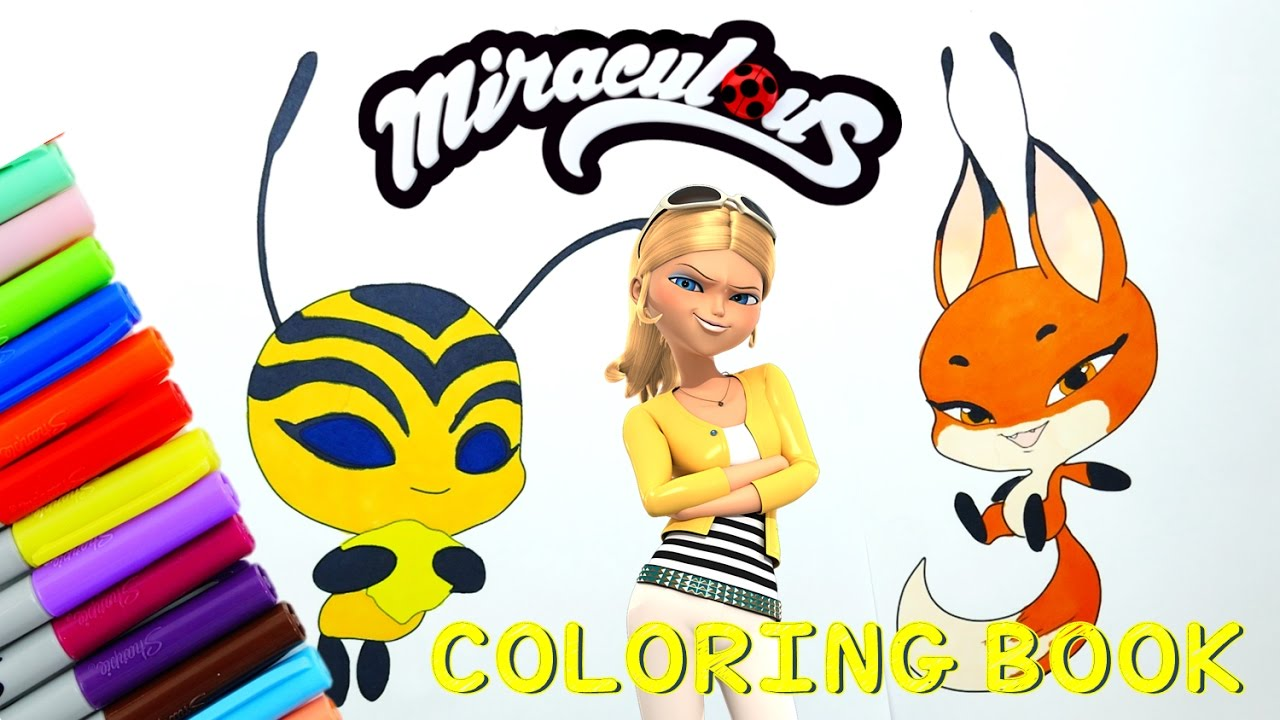 Miraculous Ladybug Coloring Book Pages Kwami Trixx ...
