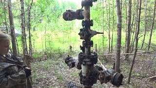 Нашли  старую нефтяную скважину