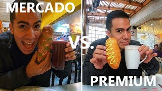Colada morada de MERCADO vs. PREMIUM