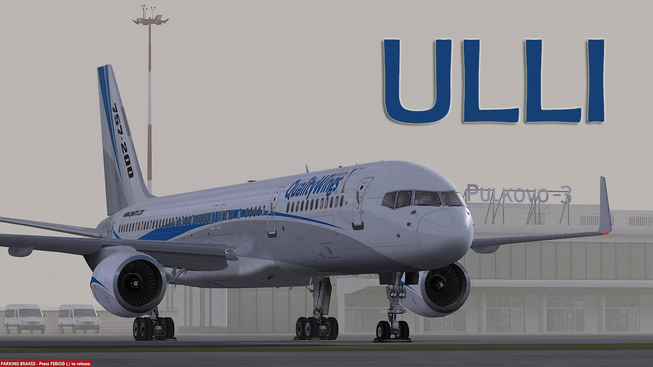Prepar3D - Qualitywings 757-200 landing ULLI in Low cloud BKN001