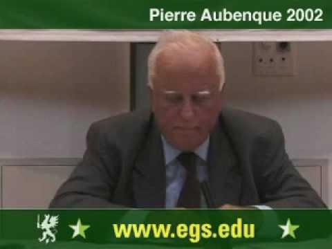 Pierre Aubenque. Deconstruction. 2002 4/5
