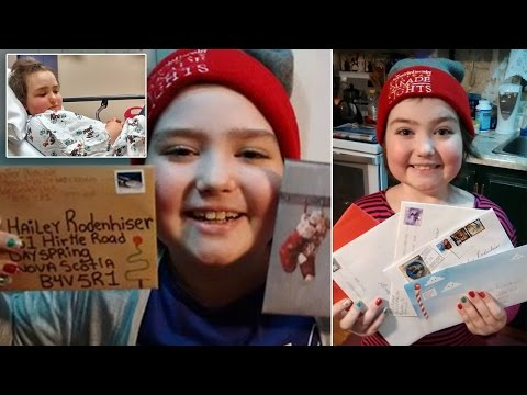 9-Year-Old Girl With Leukemia Asks For Christmas Cards To Lift Her Spirits