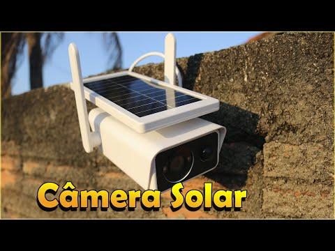 CAMERA IP SOLAR COM BATERIA ACESSO REMOTO FULL HD APP ICSEE