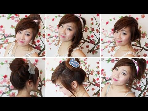 6 Quick Summer Hairstyles Youtube