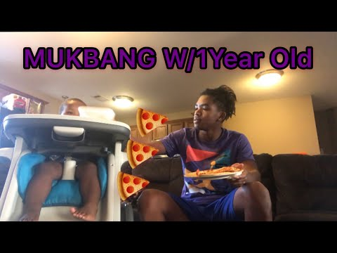 "DOMINOS PIZZA MUKBANG 🍕W/ 1 Year Old Little Brother ""  ( He Tell He's Has A  Girlfriend ) 😱"