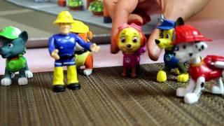 Strażak Sam po polsku trenuję Psi Patrol - bajki dla dzieci zabawki