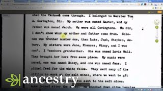 African American Family History Research:  Breaking the 1870 Wall