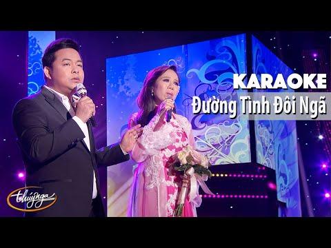 Karaoke | Đường Tình Đôi Ngã (Quang Lê & Mai Thiên Vân)