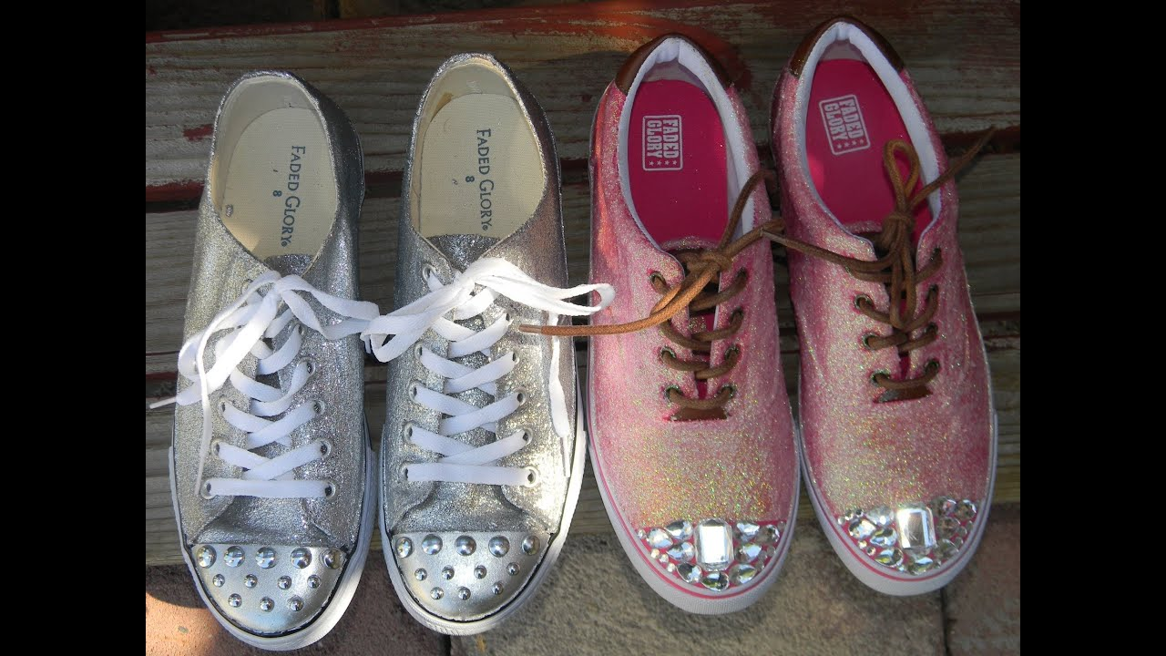 92e00c5908 DIY Miu Miu Glitter Sneakers   Giveaway Winner! - YouTube