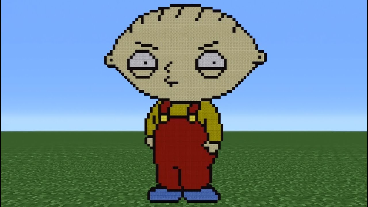 Minecraft Tutorial How To Make Stewie Family Guy Youtube