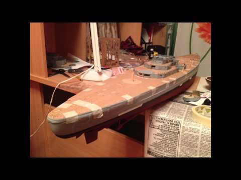 видео: Бисмарк (макет корабля)