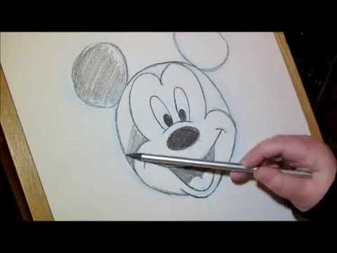 Mickey And Minnie Mouse Holding Hands Drawing