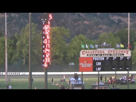 Joe Hunt Magnetos Wingless Series MAIN 6-27-15 Calistoga Speedway