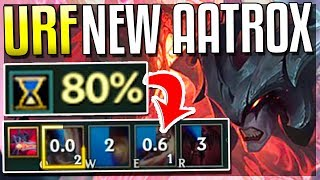 NEW 80% CDR URF AATROX REWORK!! NO Q COOLDOWN (AR Ultra Rapid Fire Mode) - League of Legends