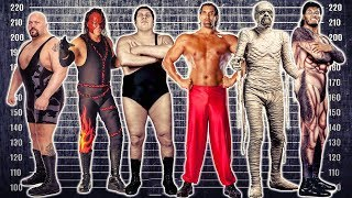 📏13 TALLEST WRESTLERS in HISTORY! 👣 WWE, WWF, WCW & More Wrestling GIANTS 🌟