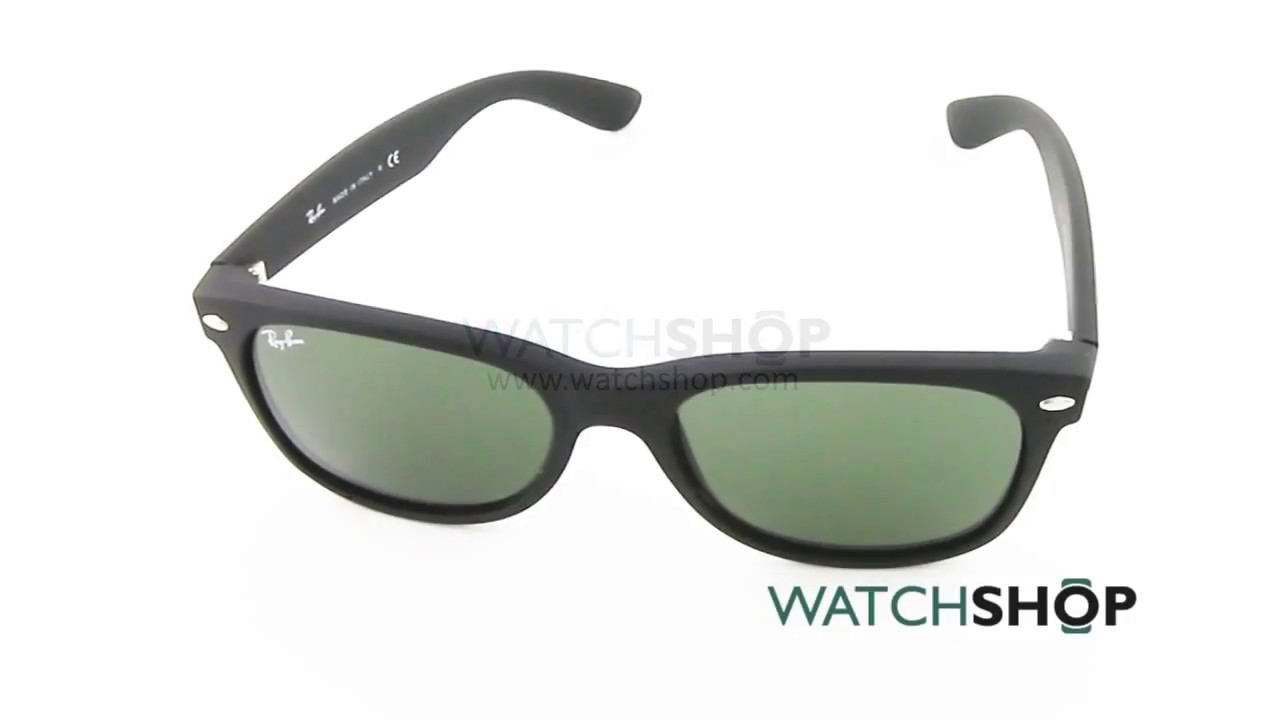 2ae521303a5 Ray-Ban Men s New Wayfarer Classic Sunglasses (RB2132-622-55) - YouTube