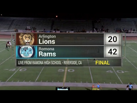 Riverside High School Football - Ramona vs Arlington