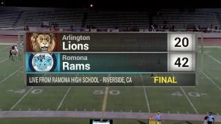 Riverside High School Football - Ramona vs Arlington